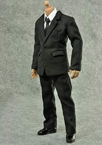 1//6 Outfits Gray Gentleman Suit for 12inch Male Figures Accessories