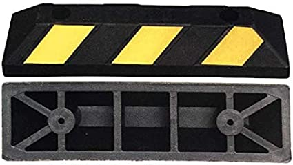 Kirner Heavy Duty Gummi Radstopp Parkplatzbegrenzung Für Parkplätze Und Garagen Farbe Schwarz Gelb Abmessungen 55x15x10 Cm 2er Pack Baumarkt