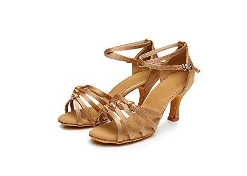nationalen Schuhe Schuhe ShangYi Dance Tanzschuhe Lumbarcha Boden GB Square cm Erwachsenen Frauen Latin Frauen Dance Schuhe Helle obere Schuhe Haut 5 weichen ppBxwg8Aq