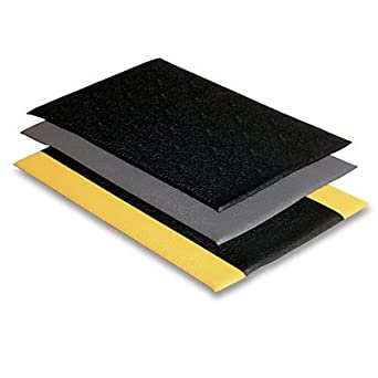 2 Width x 3 Length x 3//8 Thickness for Dry Areas Wearwell PVC 427 SoftStep Light Duty Anti-Fatigue Mat Black // Yellow 2/' Width x 3/' Length x 3//8 Thickness 427.38x2x3BYL