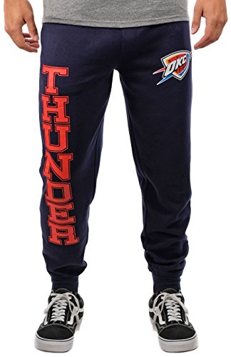 NBA Men's Oklahoma City Thunder Jogger Pants Active Basic Soft Terry Sweatpants, Medium, Blue