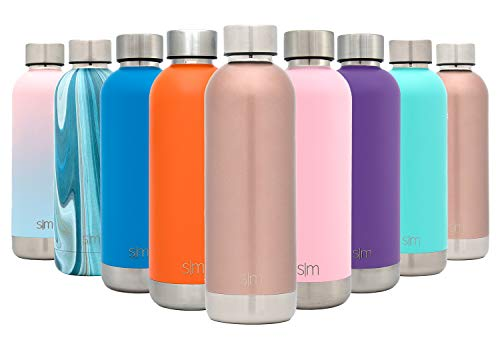 25oz Simple Modern Stainless Steel Vacuum Insulated Double-Walled Wave Bottle Glimmering Gold Shimmering Collection