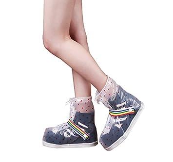 51ec33162a620 Nimble House ® ™Women's Waterproof Clear Rain Shoes Cover Reusable Boots  Flat Overshoes Rain Gear