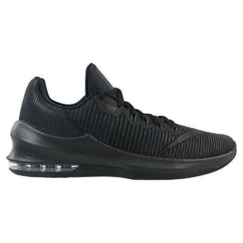 NIKE Men's Air Max Infuriate 2 Low Basketball Shoe Black/Anthracite/Metallic Dark Grey Size 11 M US