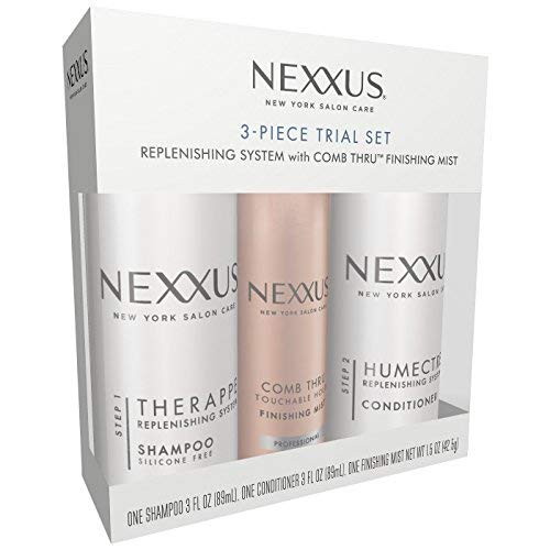 Nexxus 3 Piece Trial Set: One (1) Therappe Shampoo, One (1) Humectress Conditioner, & One (1) Comb Thru Finishing Mist ()