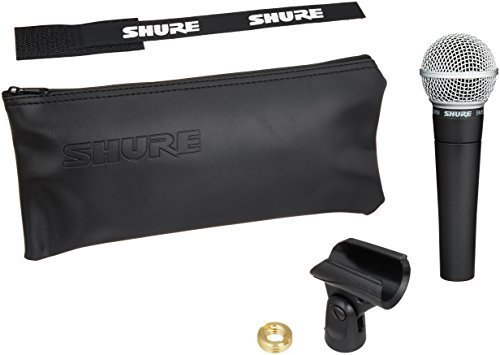 front facing shure sm58-LC dynamic microphone kit