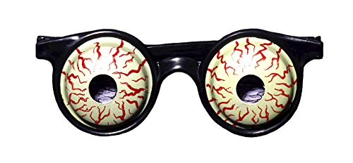 Zombie Bloodshot Eyes Glasses Halloween Costume Accessory ()