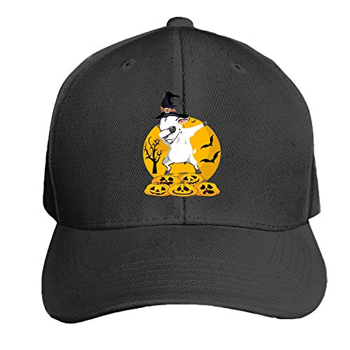 Dabbing Goat Halloween Men's Structured Twill Cap Adjustable Peaked Sandwich -