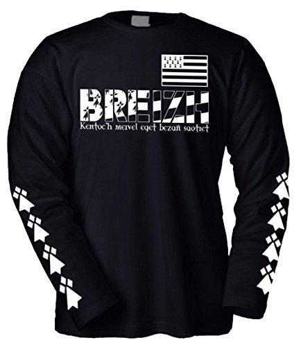 T Breton Bretagne Italia shirt Triskell Longues Drapeau Bzh Breizh Prima Manches Celtique XqCfx5