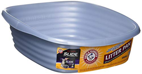 (Arm & Hammer Cat Pan/Litter Box, Small, Pearl Ash Blue)
