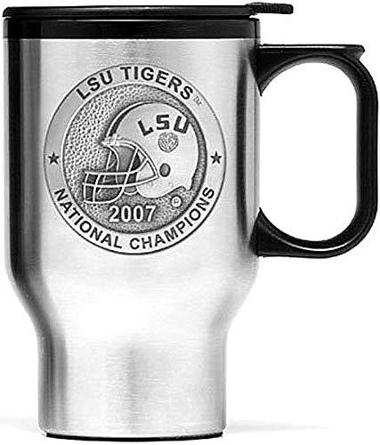 Heritage Metalworks LSU Tigers 2007 BCS Champs 14 oz Travel Mug with Pewter ()