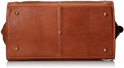 Floto Luggage Parma Edition Leather Travel Bag, Tan, Large