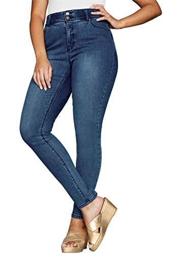 Jessica London Women's Plus Size Petite Tummy-Control Skinny Jeans Medium by Jessica London