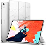 """ESR Marble Trifold Case for iPad Pro 11"""" 2018, Lightweight Stand Smart Case[Apple Pencil Charging not Supported],Microfiber Lining,Hard Back Cover,Compatible with iPad Pro 11"""" (2018), White Marble"""