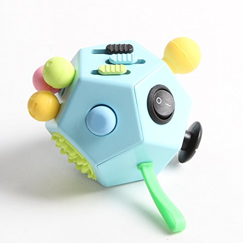 Xinyuanweiye Fidget Dice II Relieves Stress And Anxiety for Children and Adults (Blue) -