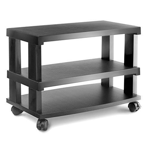 MWShop Rollable TV Stand Rollable TV Stand Entertainment Rack with Wheels Mobility and Setting The Perfect Viewing Angle Fits Most Tvs : TV Stand Can Accommodate TV's Up to 42in and/or TV's (Peerless Tv Stand Pedestal)
