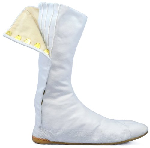 Ninja Boot (Halloween White Japanese Ninja Tabi Shoes/boots!! w/ Travel Bag ! 30cm (Us)