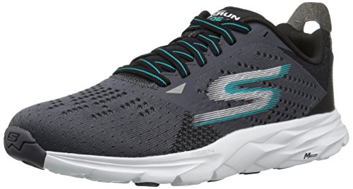 Skechers Performance Men's Go Run Ride 6 Running Shoe, Charcoal/Teal, 11 M US