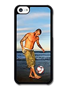 AMAF ? Accessories David Beckham Beach Playing Football Player case for iPhone 5C