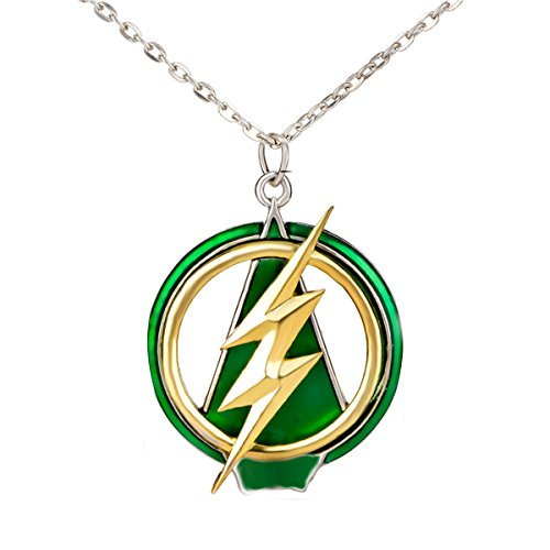 lan27 The Flash and Arrow Pendant Necklace Flash Fan Men Jewelry Cosplay ()