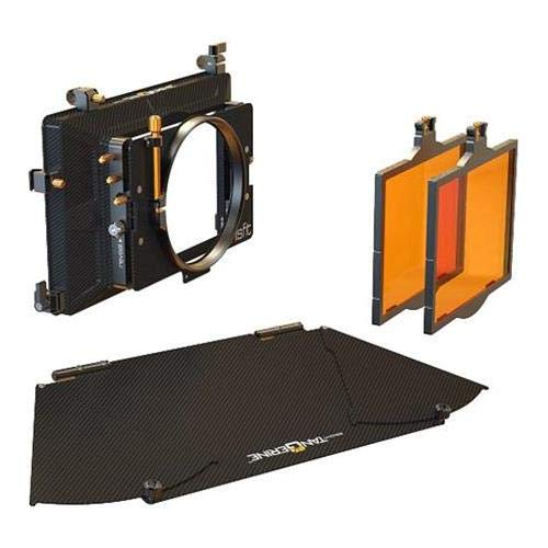 Bright Tangerine Misfit Matte Box Kit 1, Includes 4x5.65 2-Stage Clamp-On Matte Box Core, Top Flag, Flag Mounts, (2) 4x5.65 Horizontal Trays, 114mm Clamp Attachment