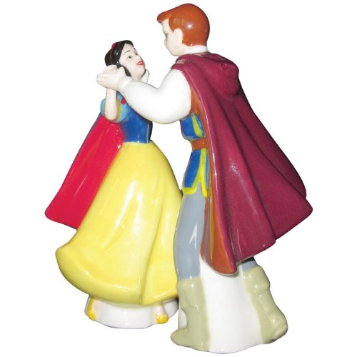Westland Giftware Life According to Disney Princesses Snow White and The Prince Dance 4-Inch Magnetic Salt and Pepper ()