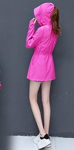 Sección UV de Larga Larga 2XL Manga Playa Ropa de de Tamaño Verano Protección Femenina Gran RBB de Ropa de Suelta 2018 Delgada Rojo Chaqueta Sección Solar w0qZxUXg