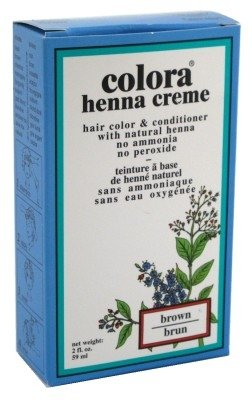 Colora Henna Creme Hair Color Brown 2oz (6 Pack) by Colora Henna