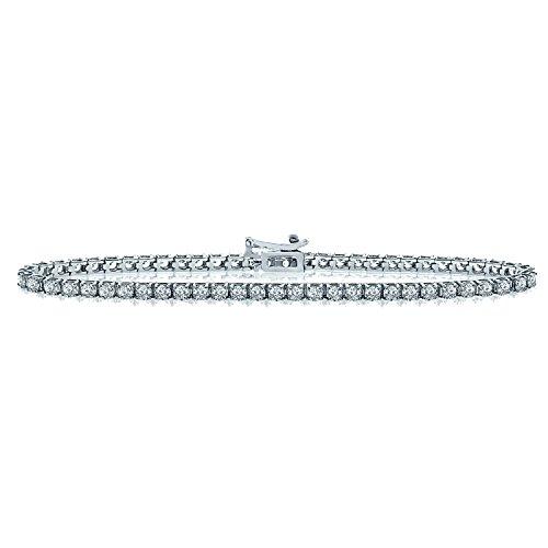 OFFRE spéciale... 2.00CT Diamant rond Bracelet de tennis, Or blanc 18K