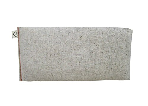 Unscented Flax Eye Pillow - Natural Cotton - Organic 4 x 8.5 - Soothing Relaxing - Yoga Massage Meditation Sleep Aid Migraine Relief - beige tan by Peacegoods (Image #7)