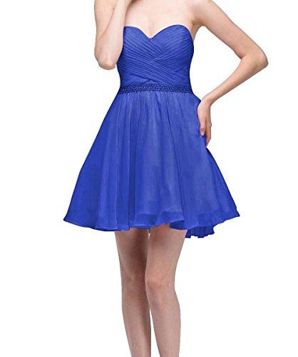 Ainidress Courtes Robes De Mariée Bustier Cocktail Robe De Soirée De Demoiselle D'honneur Bleu