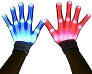 HITOP Led Gloves,Stocking Stuffers for Teens Men Women,Halloween Christmas Toy Gift for Boys Girls