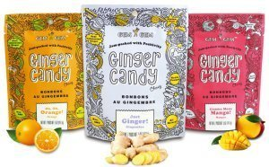 Gem Gem All Natural Chewy Ginger Candy 5oz (Mango, 12 Pack)