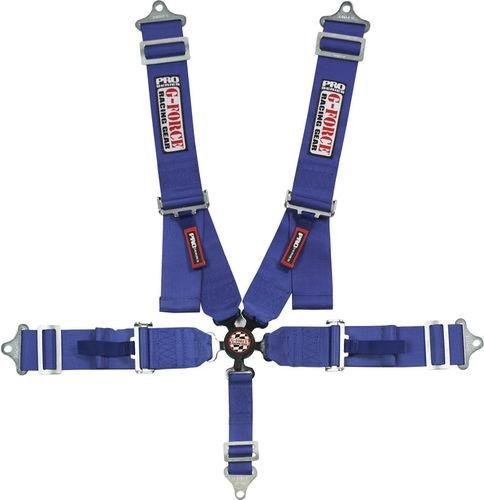 G-Force 7000BU Blue SFI 16.1 Rated 5-Point Pull-Down Camlock Individual Shoulder Harness Set