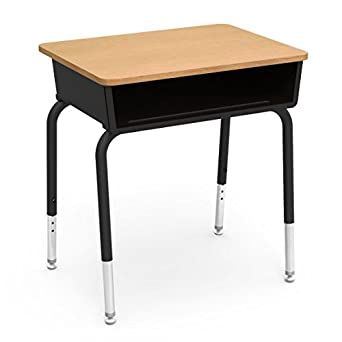 Amazon Com Virco Student Desk Black Book Box 18 X24 Fusion Maple