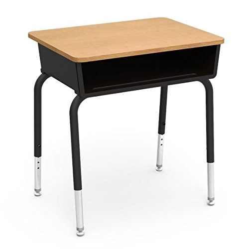 Virco 785CTM Student Desk, Black Book box, 19 7/8' x 32 1/2