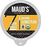 Maud's Organic Sumatran Coffee (Dark Roast), 24ct. Recyclable Single Serve Fair-Trade Organic Single Origin Coffee Pods
