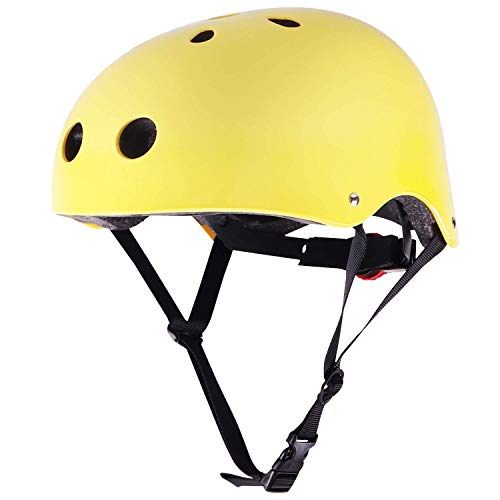 WIN.MAX Bike Helmet CPSC EN1078 Certified, Adjustable Durable for Bicycle Cycling Skateboard Scooter Multi-Sport from Toddler to Youth (Yellow S) ()