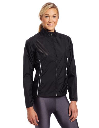 adidas Golf women's Climaproof Rain Provisional Jacket, Black/White, X-Large Adidas Black Storm Jacket