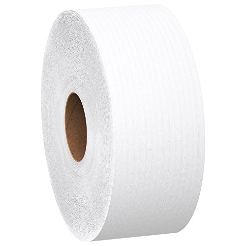 Scott Jumbo Roll  Commercial Toilet Paper , 1-PLY, White, 6