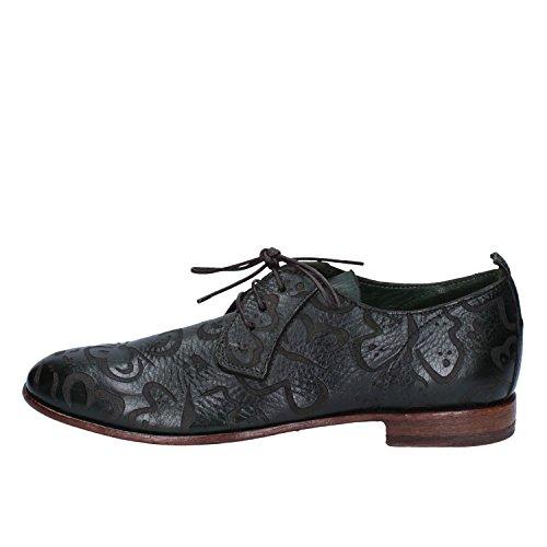 MOMA - Zapatos de cordones de Piel para mujer verde oscuro