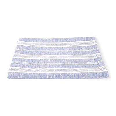 LinenMe Linen Multi Stripe Bath Towel, 39 by 57-Inch, Blue/White, Standard, - Classic and beautiful this Multistripe blue white linen towel will suit any bathroom, provided you search for some great quality. Pure linen fabric is pleasant against skin and absorbs moisture instantly. Linen towels are famous for their longevity. Size: 39 by 57-Inch, Blue/White, 100% European linen High absorbency - linen is able to absorb a phenomenal amount of water for its weight. So a linen towel will get you drier, quicker. This is great if your kids come shivering out of the pool's and need to get dry quickly. Linen is also beneficial for people with sensitive skin as you don't need to rub as much as with other fabrics - bathroom-linens, bathroom, bath-towels - 41CjIm7U38L. SS400  -