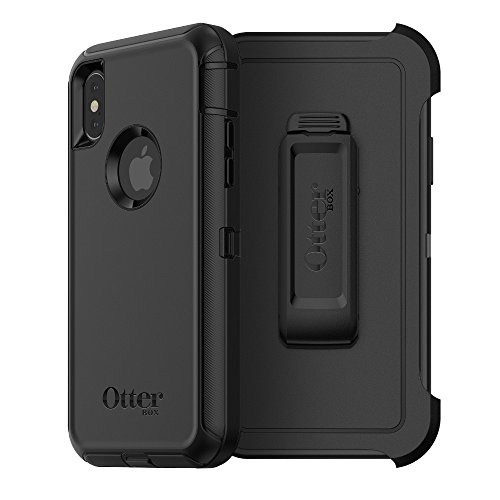 OtterBox Defender Series Case & Holster for iPhone X (ONLY) - Black (Certified Refurbished)
