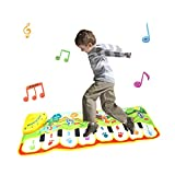Wotryit Durable Portable Piano Mat, Musical Singing Toy Gifts for Kids Baby Dancing and Learning Music