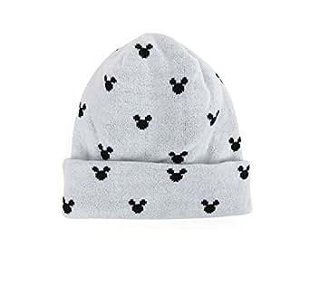 MACARON Unisex-Adult Mickey Beanie Mickey Skull Hat (Light Grey)