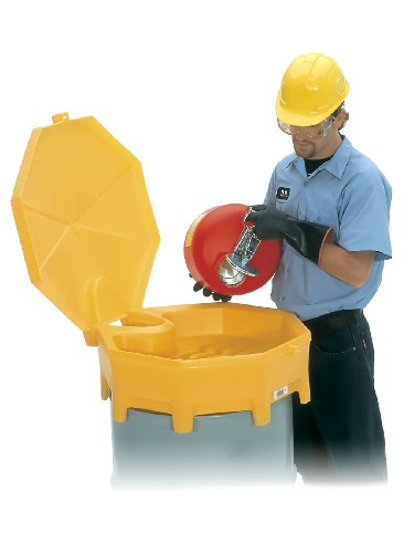 Global Funnel - UltraTech 0499 Polyethylene Global Ultra-Drum Funnel with Spout and Hinged Cover, 5 Gallon Capacity, 29