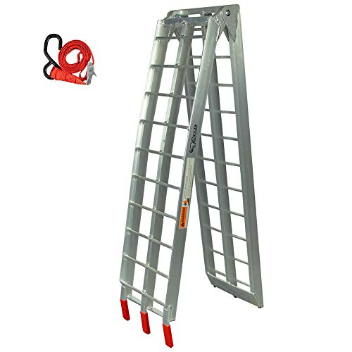 (Pit Posse PP2755 Motorcycle Folding Loading Ramp Aluminum 89