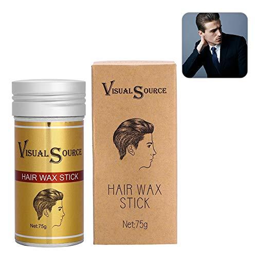 Hair Styling Wax, 75g/Bottle Hair Wax Stick Long-last Natural Hairstyle Model Styling Broken Hair Gel Wax Cream