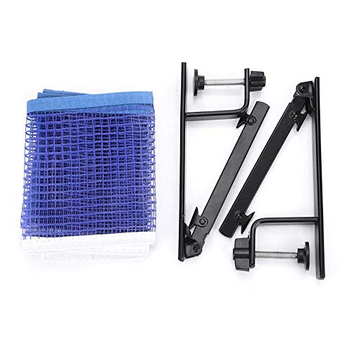 Table Tennis Net Post Set, Durable Ping Pong Net Clip Post Set with 2 Metal Clamp Posts for Indoor Outdoor Sports