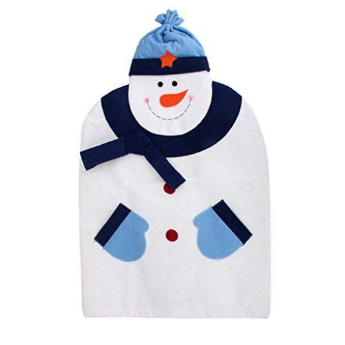 Snowman Christmas Chair Back Cover